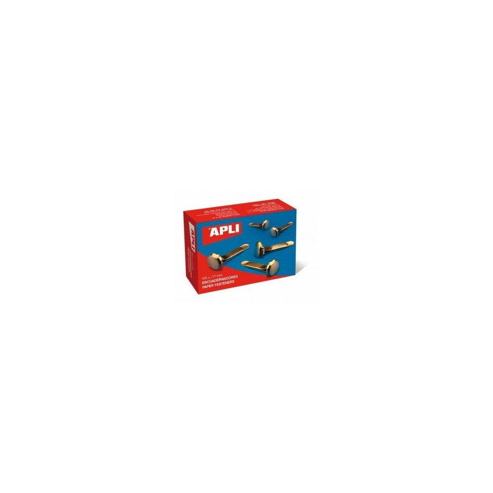 Caja 100 encuadernadores sin arandela 12 mm Apli 12283