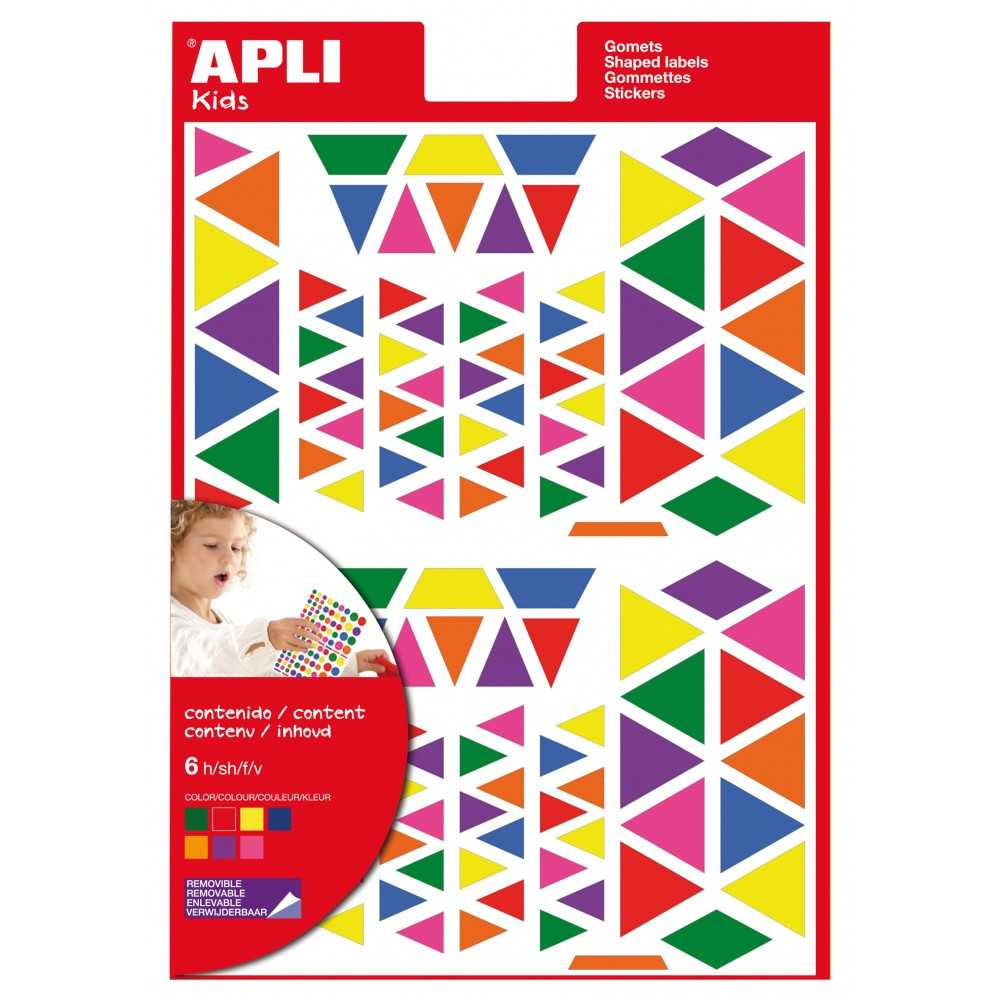 Bolsa Gomets Triangulares Multicolor 6H Apli 13239