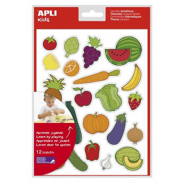 Gomets Frutas y Verduras 12H Apli 11451