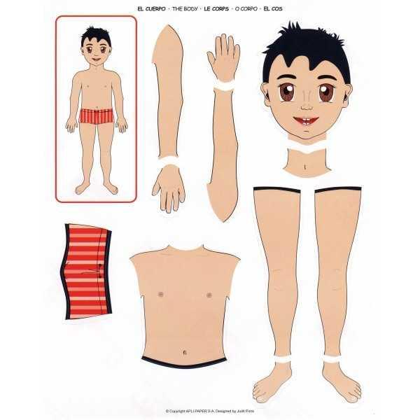 2 Hojas Gomets Tematicos El Cuerpo Humano Apli 11868