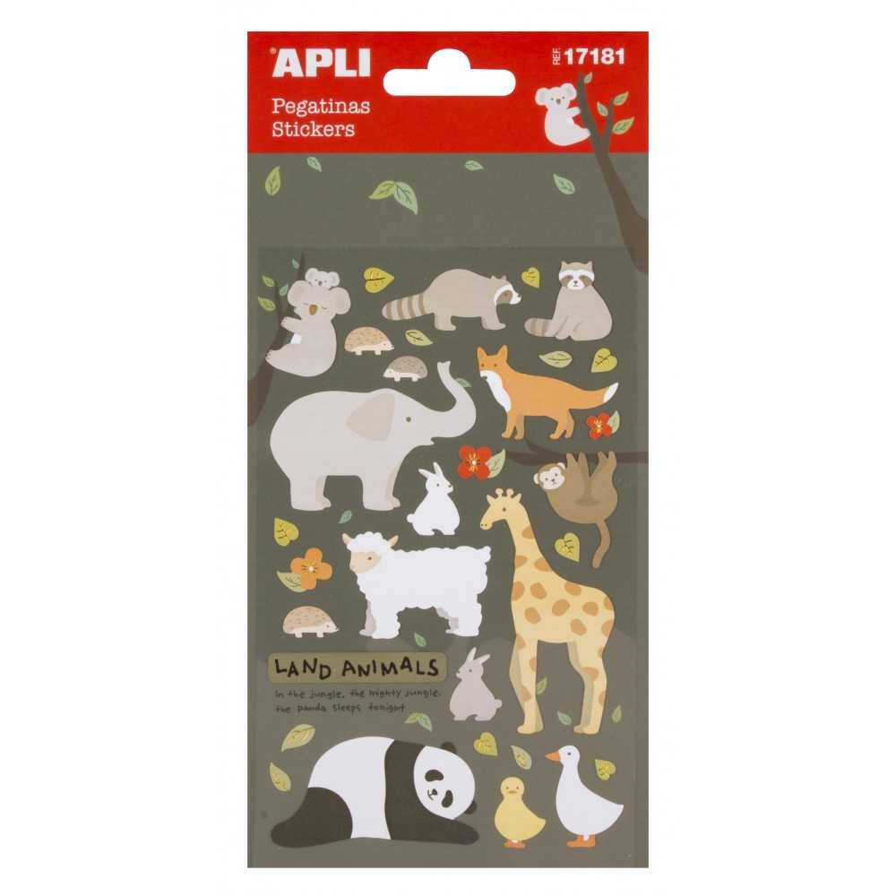 Pegatinas de papel Animales Apli 17181