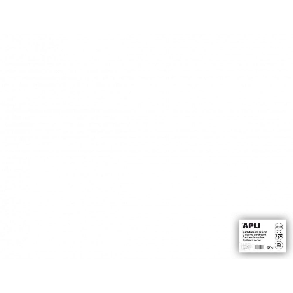 25 Hojas Cartulina 50x65cm Color Blanco Apli 14254