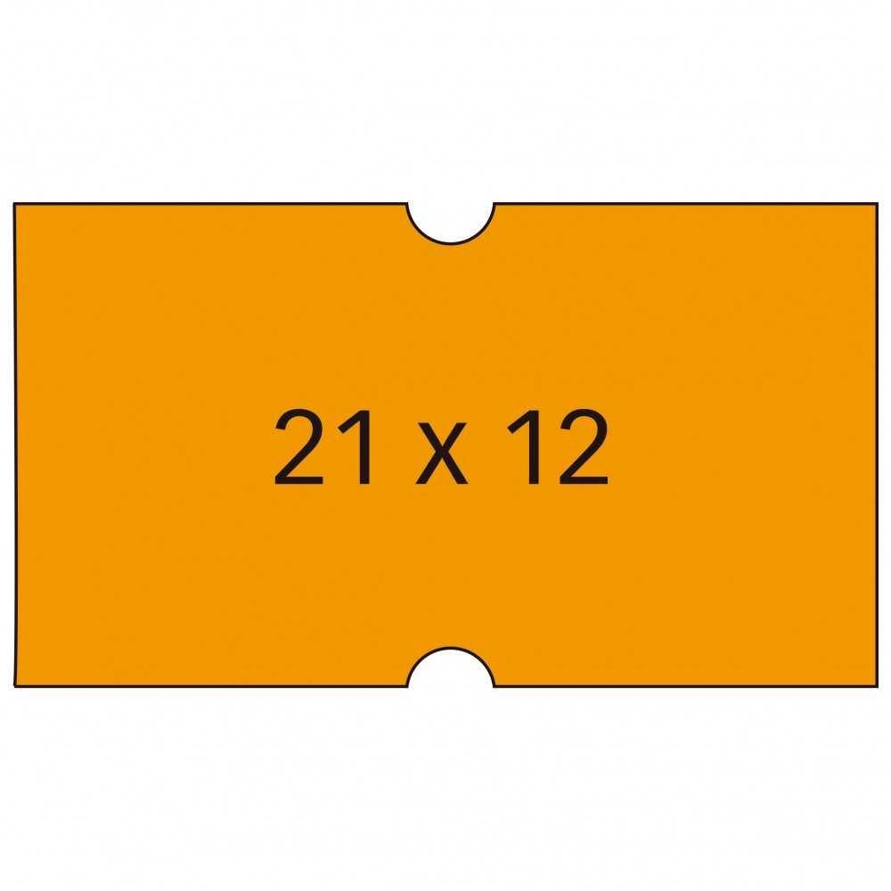 Etiqueta Precio 21 x 12 Naranja Fluor Apli 101566