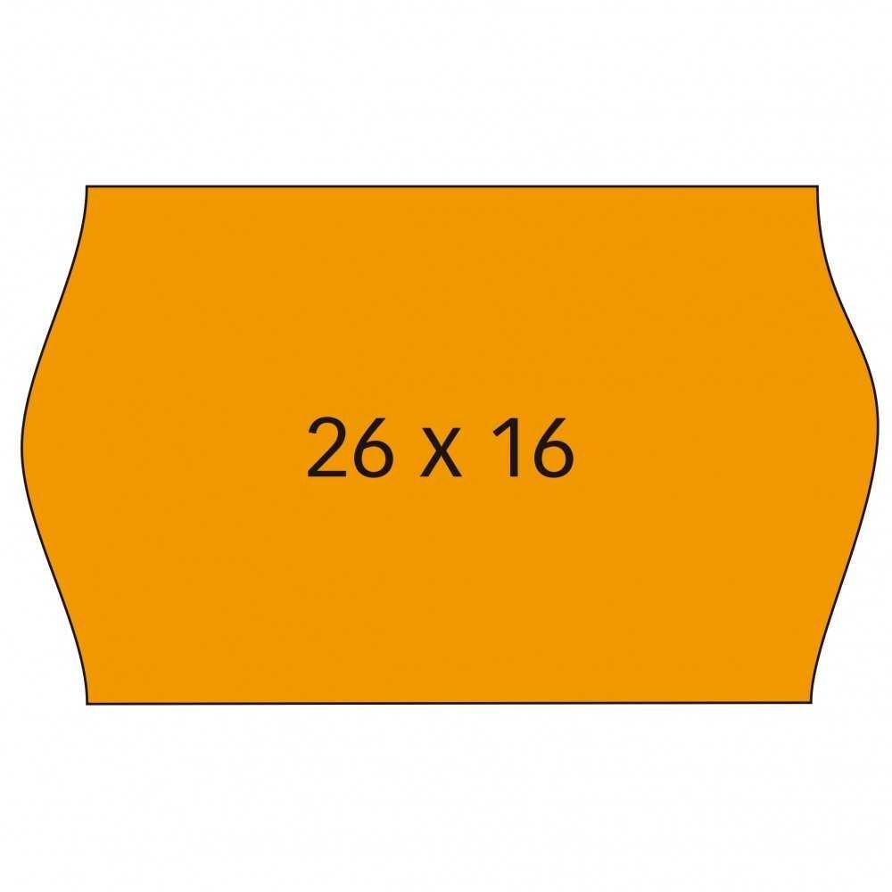 6 Rollos Etiquetas precio 26x16mm Naranja Removible Apli 101719