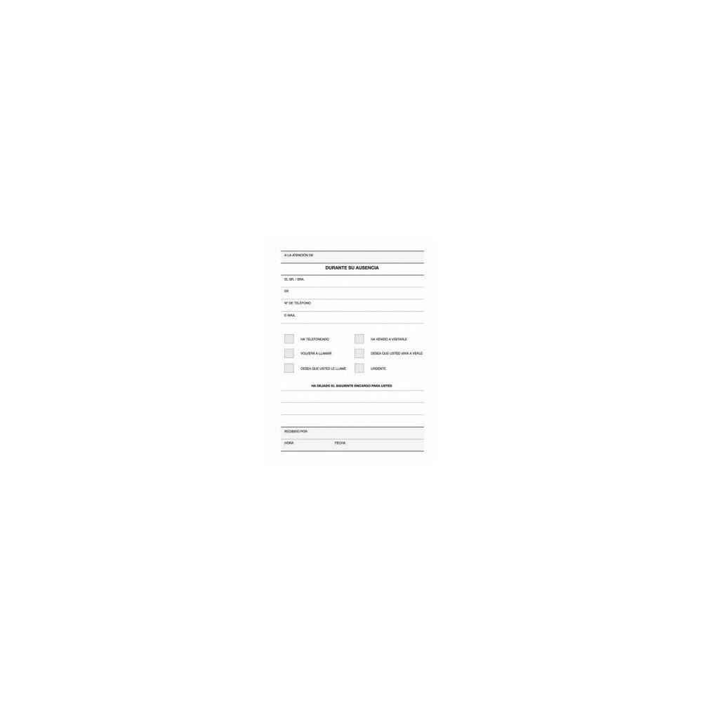 Talonario Registro de Llamadas Castellano 105x145 mm Apli 12720