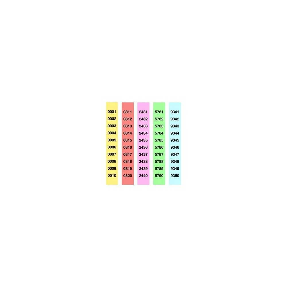 Tiras de Rifa  del 1 al 1000 Apli 12939