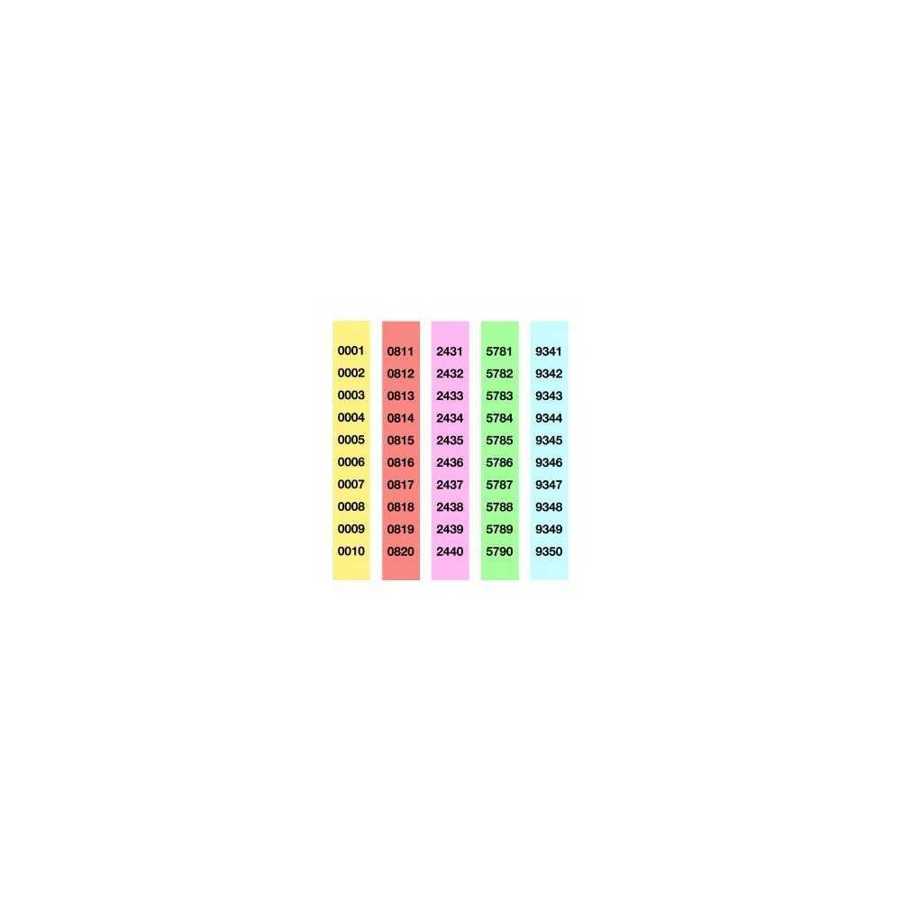 Tiras de Rifa Lluminetas del 1 al 1000 210x30 mm Apli 12939