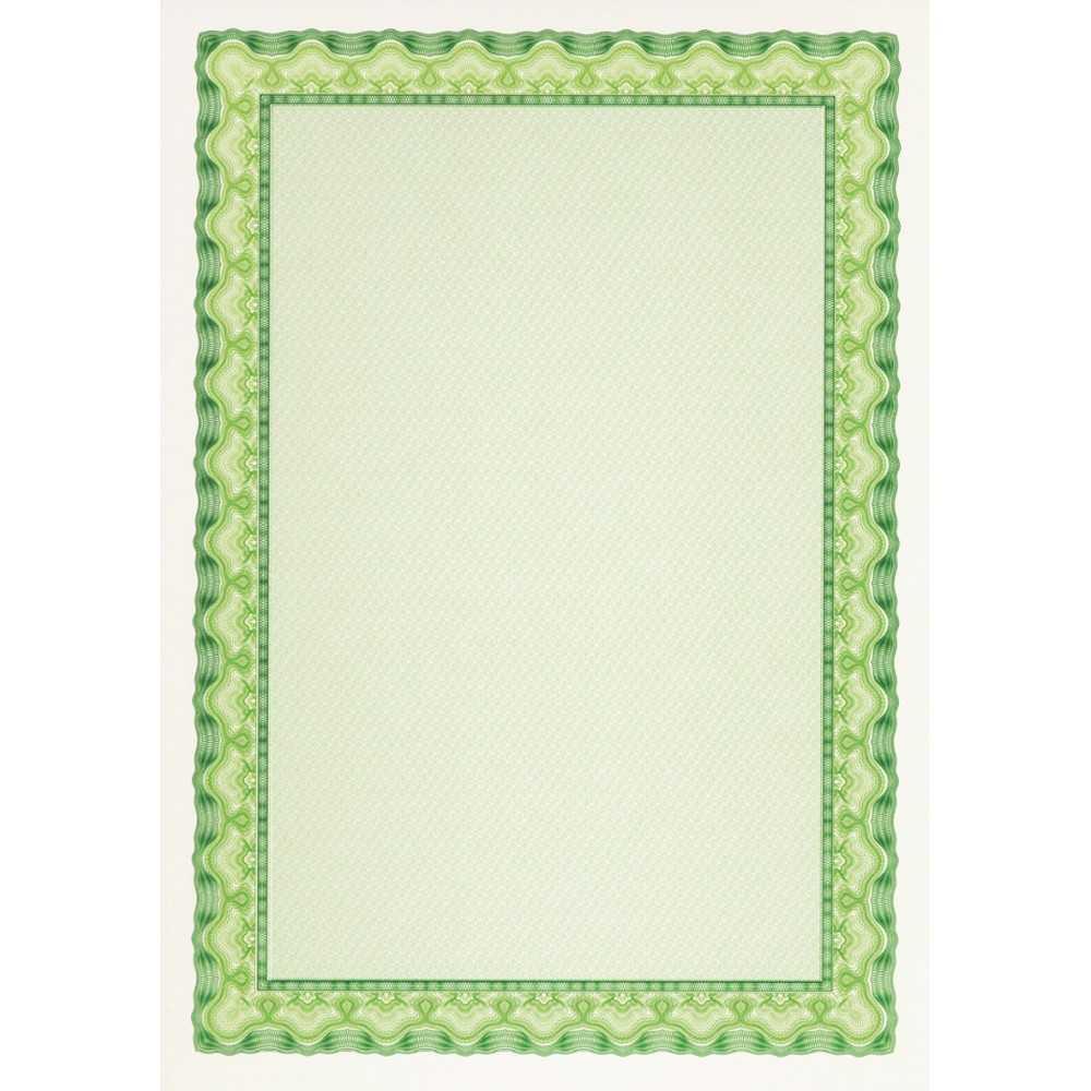 Papel Certificado Verde Esmeralda A4 25H Apli OSD4054