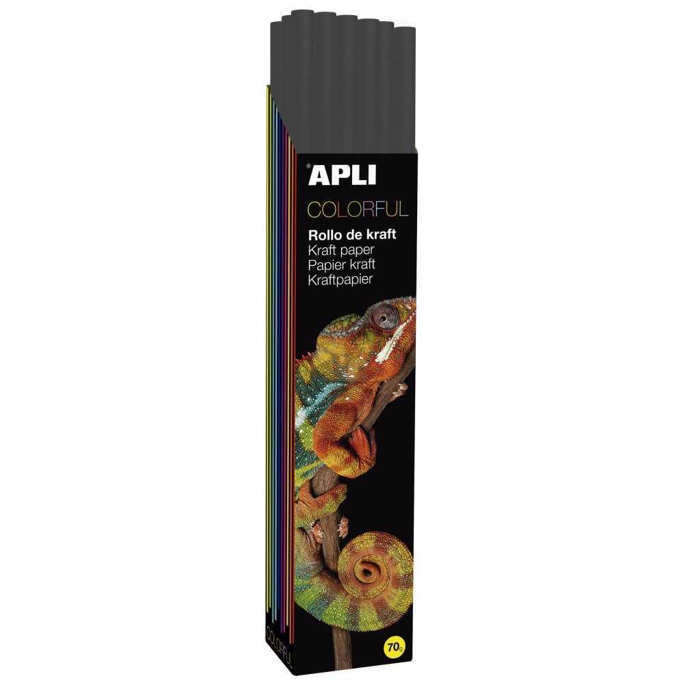 Rollo Papel Kraft Color Negro 1m x 3m Apli 14421 Compraetiquetas