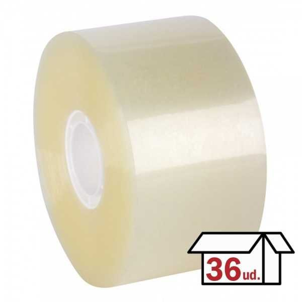 Pack 36 Rollos Precinto sin Ruido Compact 50mm x 143m Apli 12872