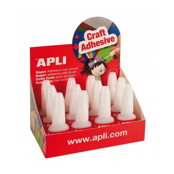 Caja de Adhesivos Instantáneos 10 g 12 Uds Apli 13677