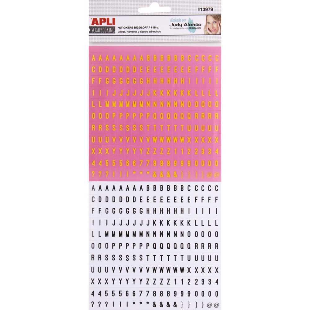 Stikers de cartón ABC Autoadhesivo Judy Alonso APLI 13979