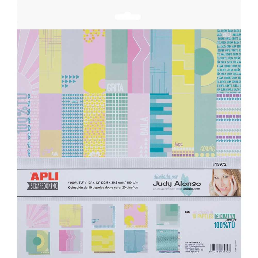 Papel Scrapbooking Coleccion Judy Alonso Apli 13972