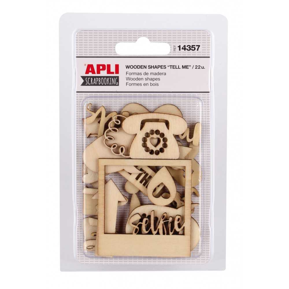 Formas de Madera Modelo Tell Me Scrapbooking APLI 14357