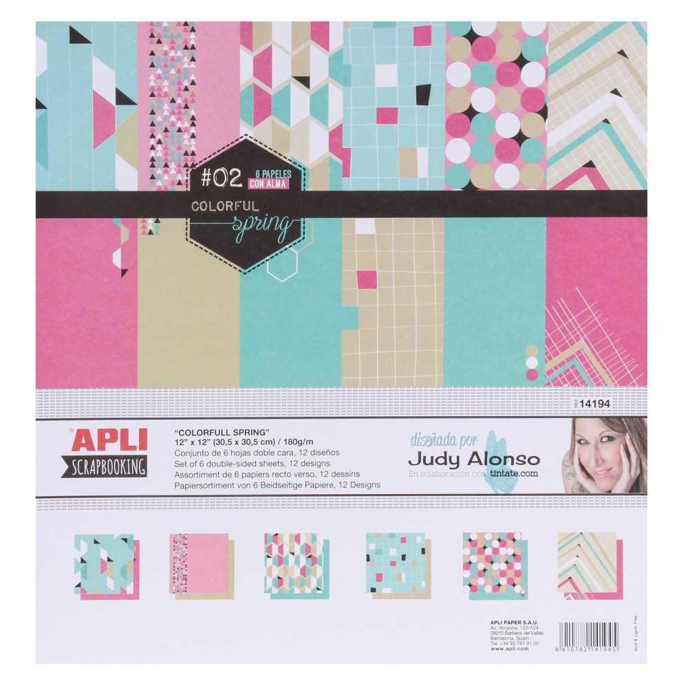 """Papel Para Scrapbooking Colección """"Colorful Spring"""" APLI 14194"""