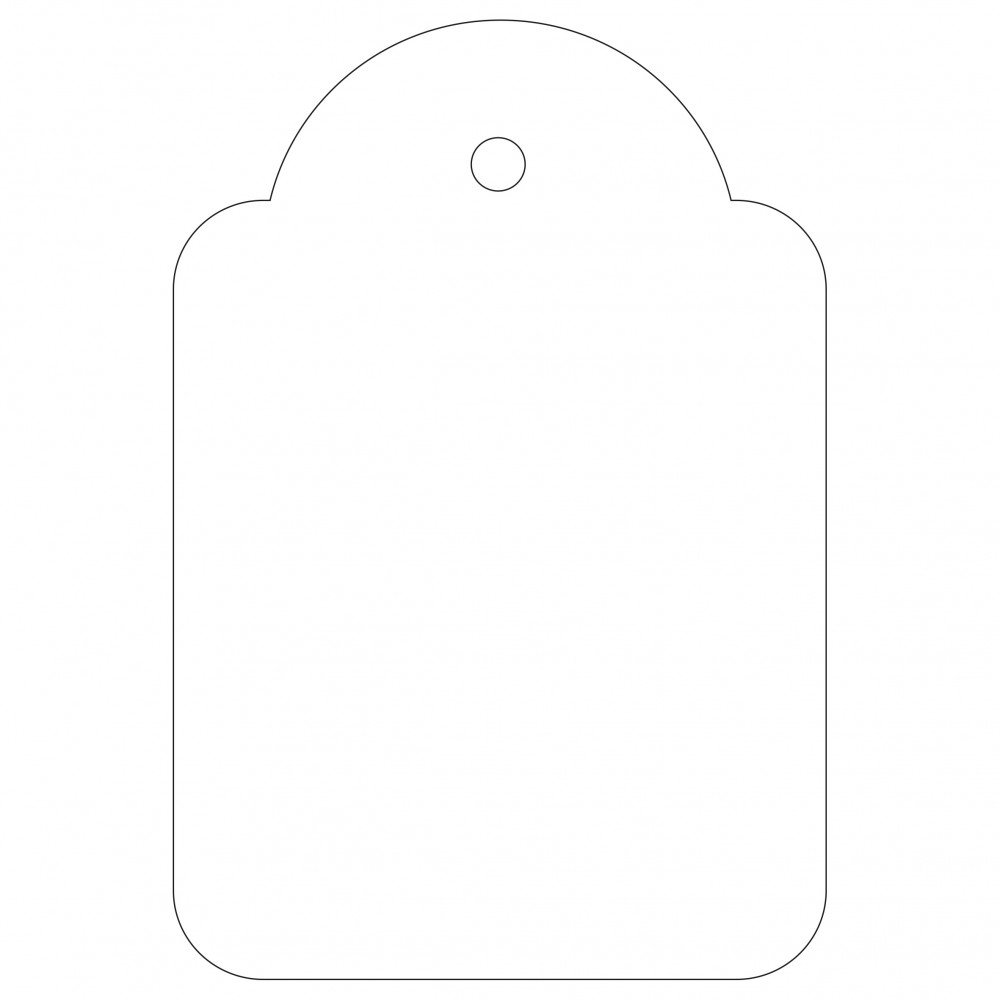 500 Etiquetas Blancas Colgantes con...