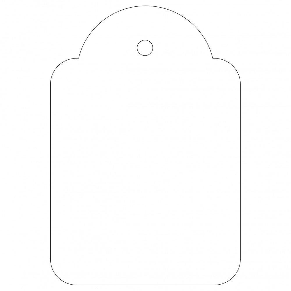 100 Etiquetas Blancas Colgantes con...