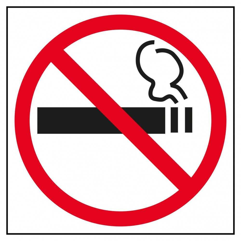 Etiqueta prohibido fumar. Apli. 00845