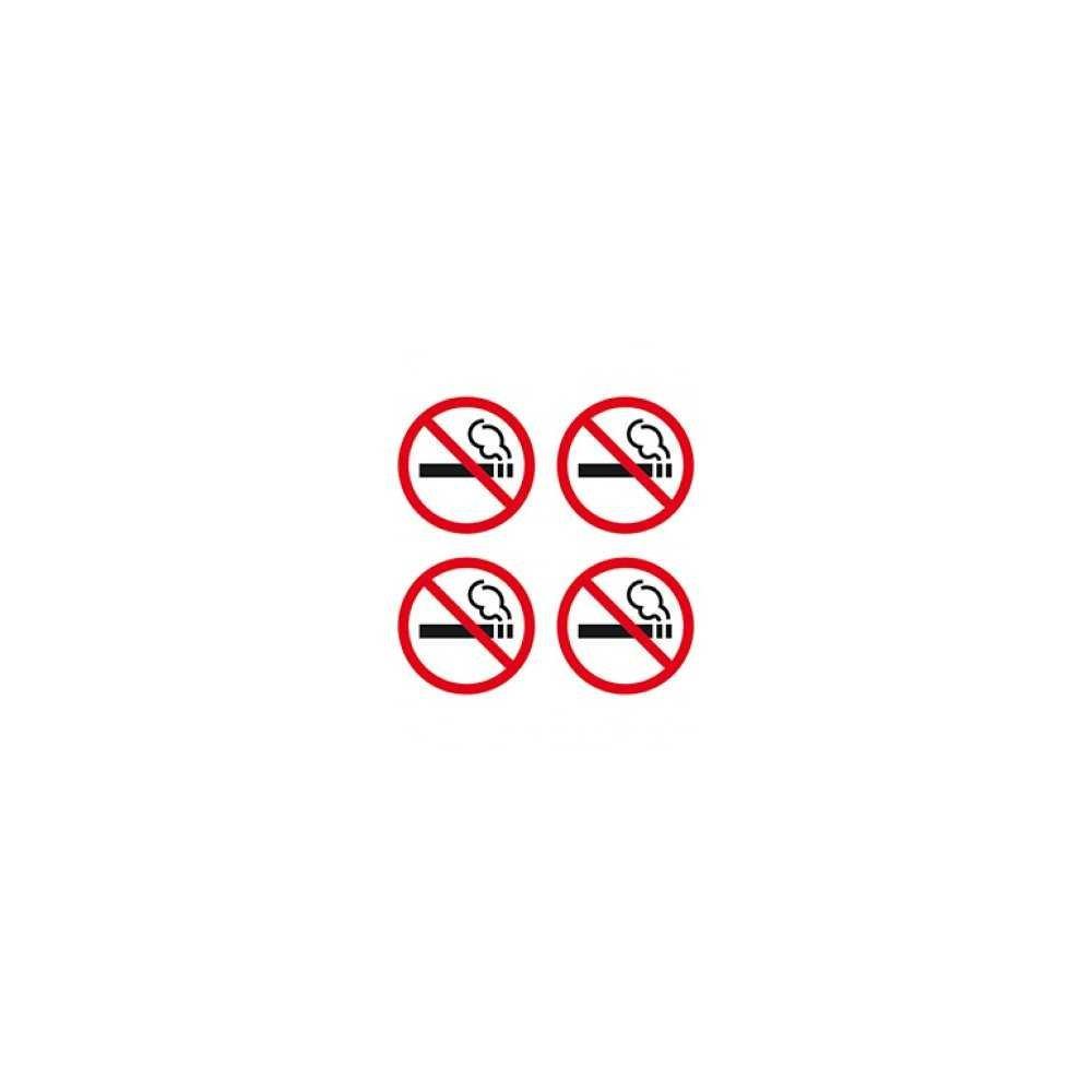 Etiquetas Señalización Prohibido Fumar 4 Uds. 57x57 mm Apli 12139