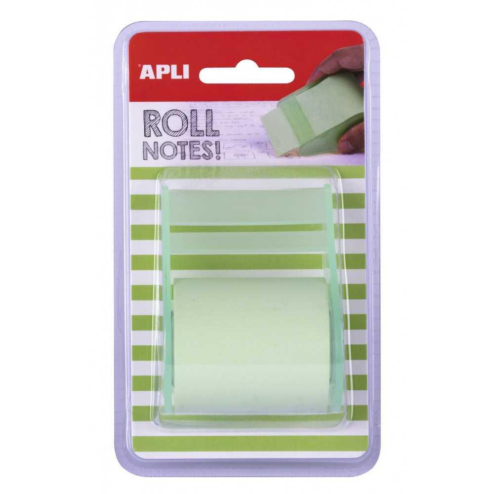 Notas Adhesivas en Rollo 50mm x 8m Color Verde Pastel Apli 18191