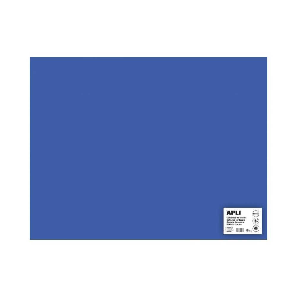 25 Hojas Cartulina Color Azul Medio 50 x 65 cm Apli 16507 COMPRAETIQUETAS