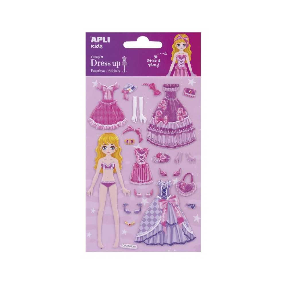 Pegatinas Modelo Candy 3D Dress Up 1H Apli 17605