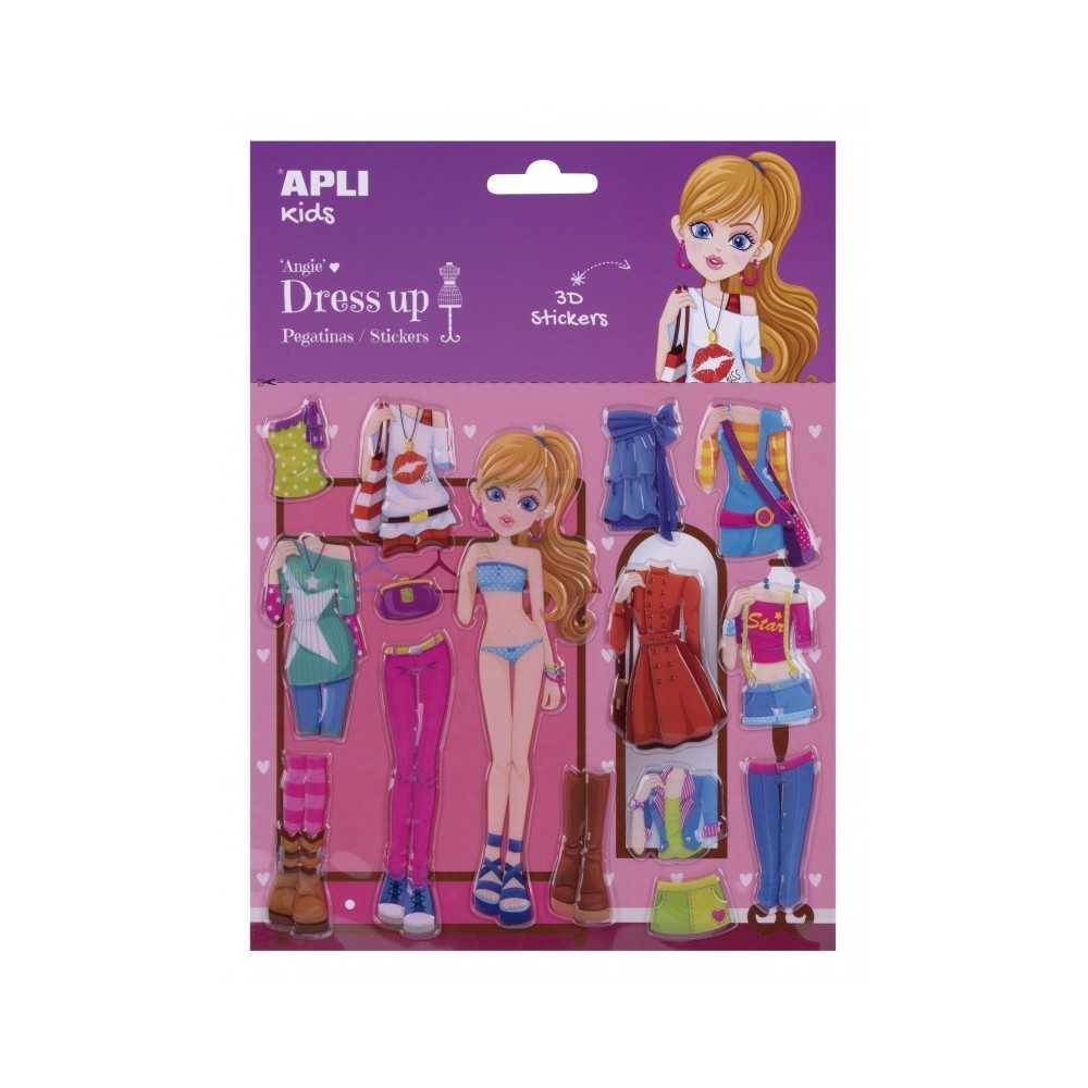Pegatina Modelo Angie 3D Dress Up 1H Apli 17608