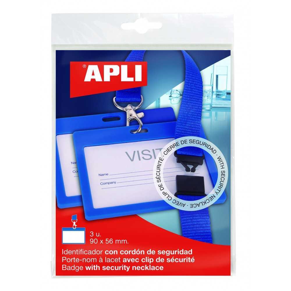 Identificadores Con Cordón Azul 102x75 mm 3 Uds Apli 17839