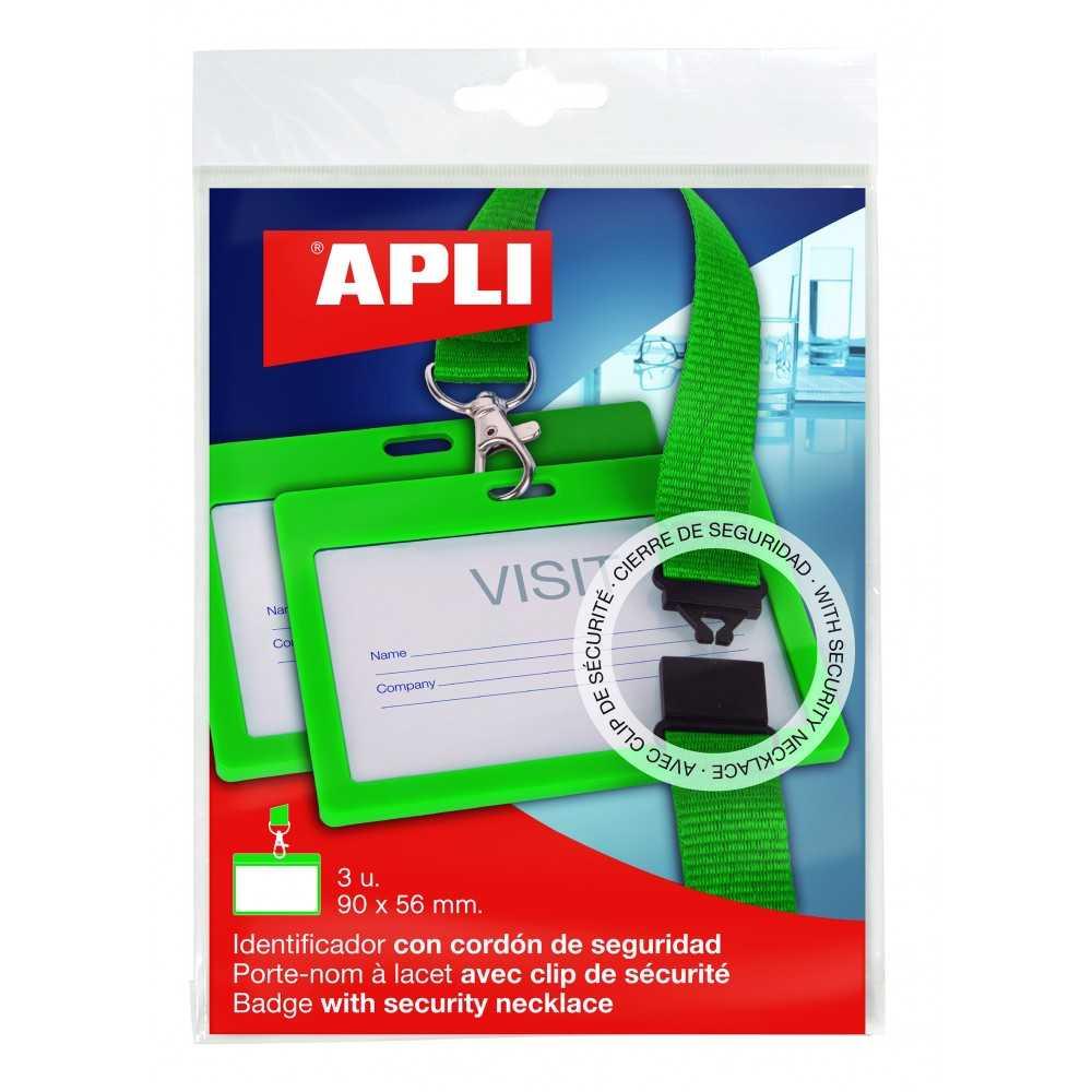 Identificadores Con Cordón Verde 102x75 mm 3 Uds Apli 17841