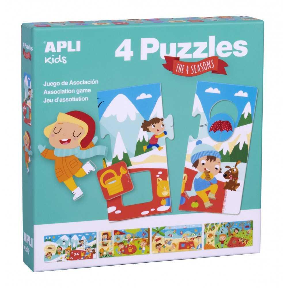 Caja 4 puzzles Estaciones. Apli. 17895