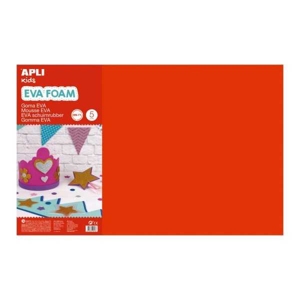 10 Hojas Goma Eva Colores Surtidos 60x40 cm Apli 13434