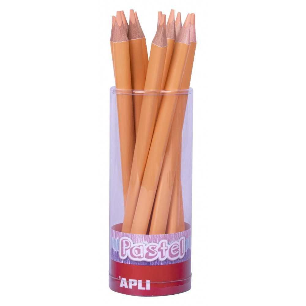 18 lápices Jumbo rosa salmón. Apli. 18056