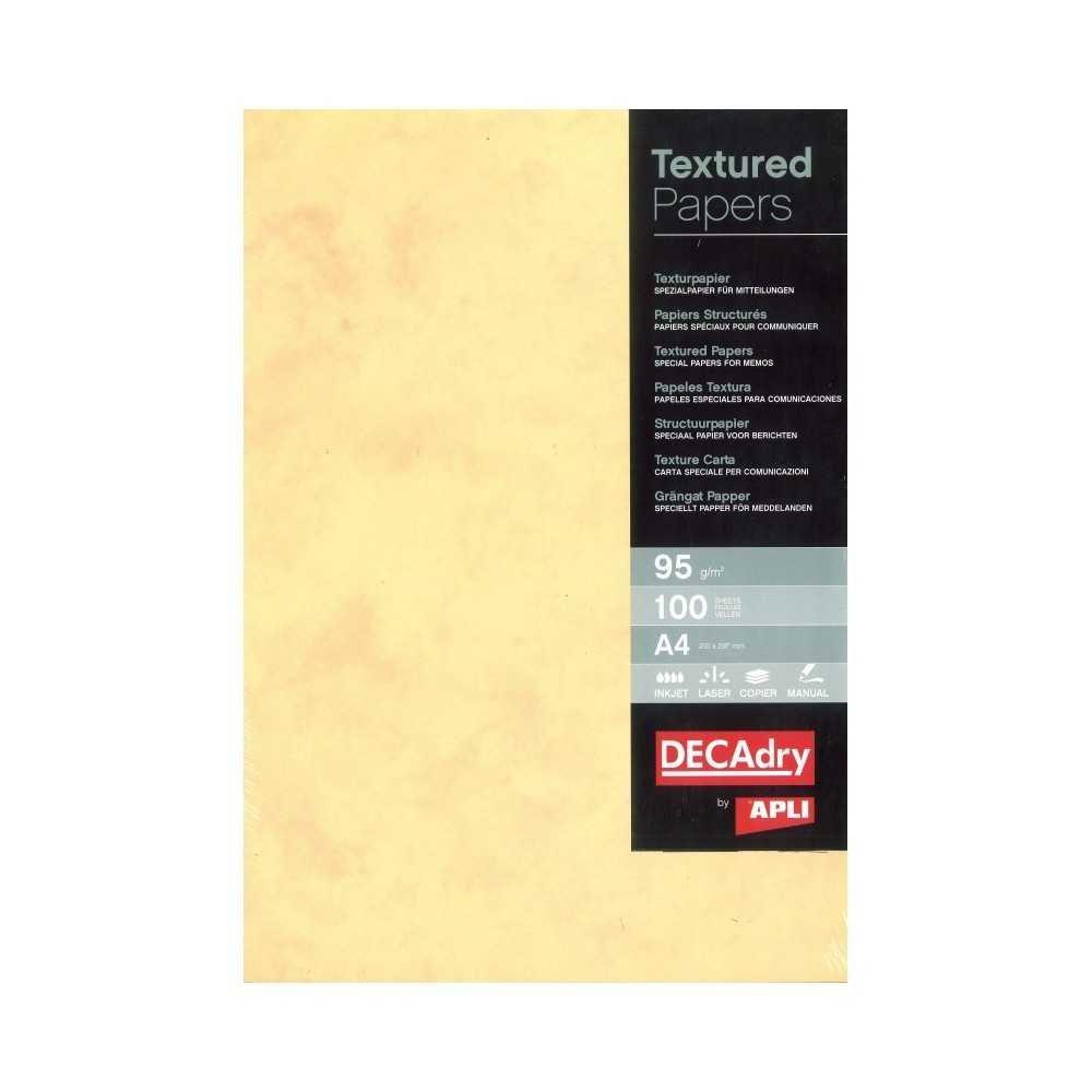 Papel Texturado Mármol Dorado A4 100 Hojas Apli PCL1687