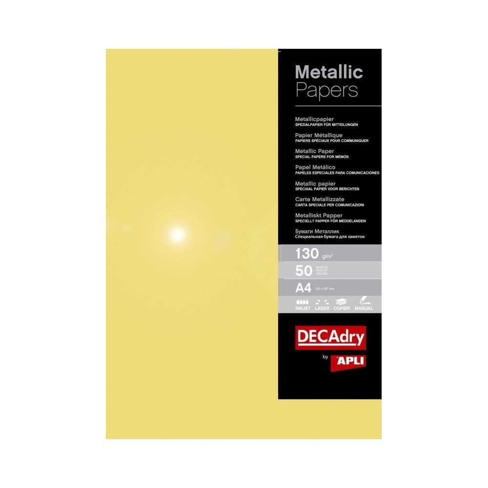 Papel metalizado oro. Apli PMA4070