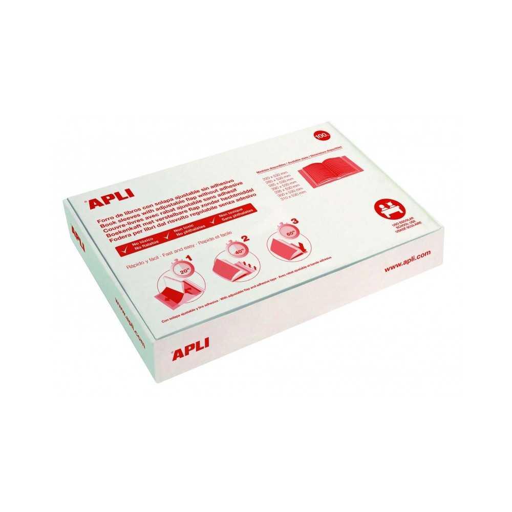 Fundas Forro Libros Autoajustables PVC 285mm Apli 16907