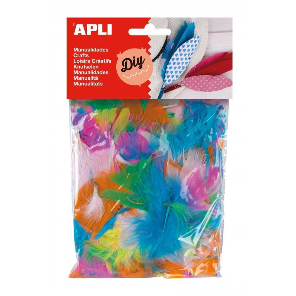 Bolsa Plumas Collage Colores Surtidos Apli 13281 Compraetiquetas