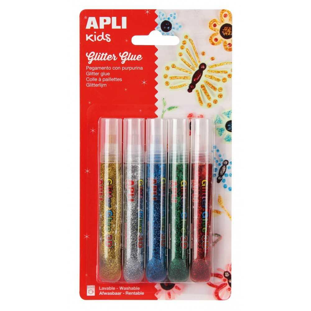 Pegamento Purpurina Colores Metalizados 5 Uds Apli 13223