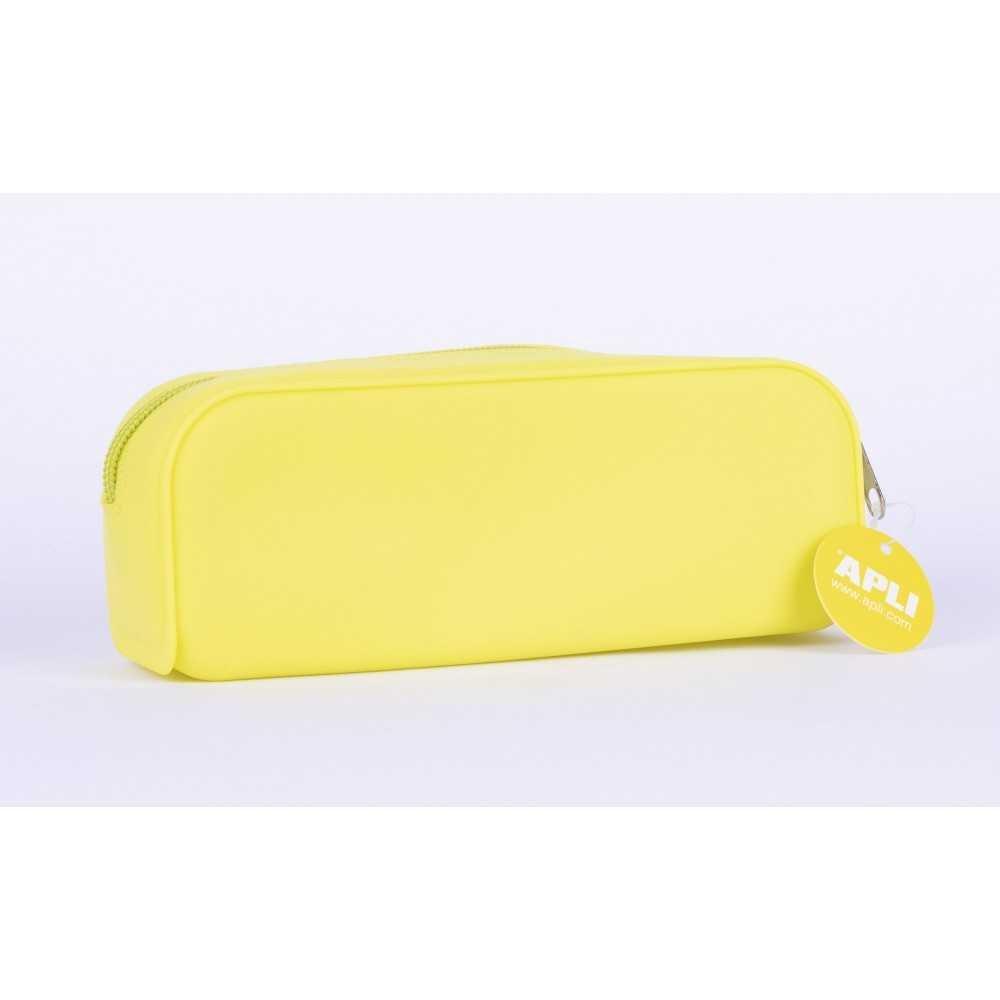 Estuches Portatodo de Silicona Color Amarillo Fluor Apli 16300 COMPRAETIQUETAS