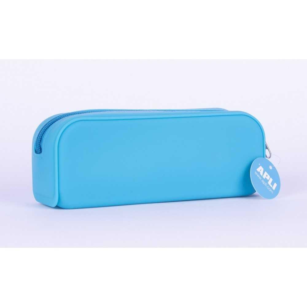 Estuches Portatodo de Silicona Color Azul  Fluor Apli 16300 Compraetiquetas
