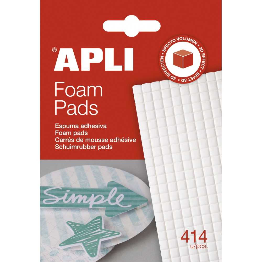 Adhesivos de Foam 3D 5x5mm Color Blanco Apli 13814