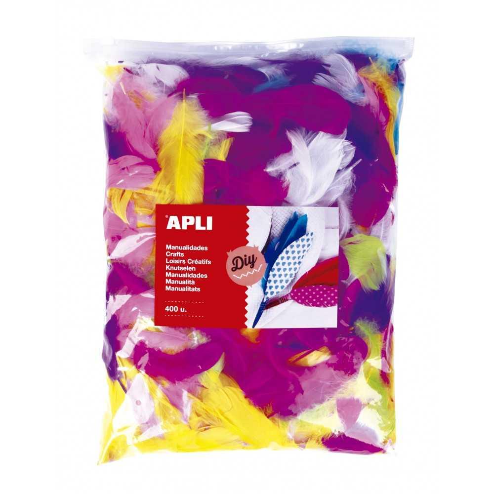 400 Plumas Collage Colores Surtidos Apli 18156 Compraetiquetas