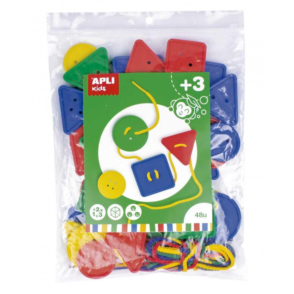 Juego Botones Plástico Ensartables Apli 17492