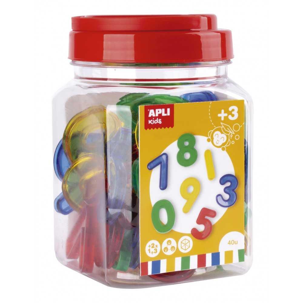 40 Números de Plástico Traslucido de...