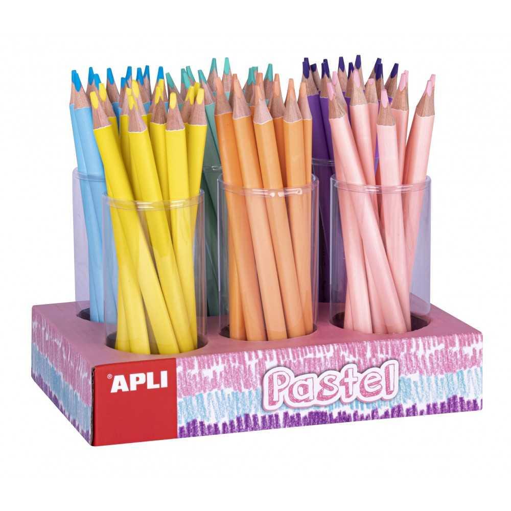 Pack 108 Lápices Jumbo de Colores Pastel Apli 18052 Compraetiquetas