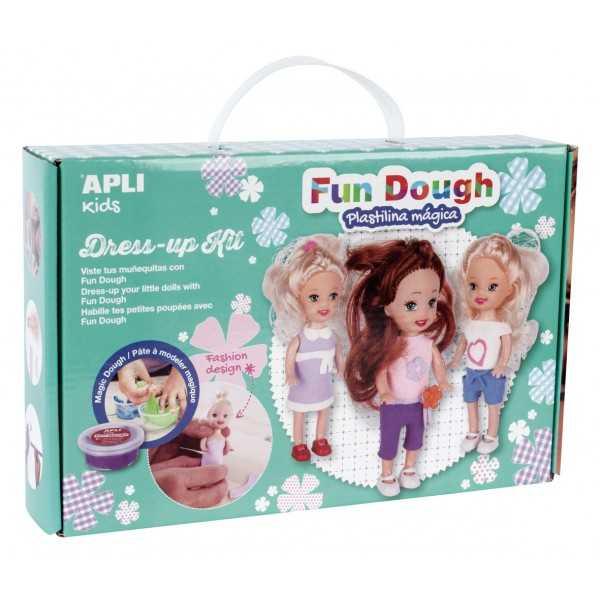 Juego Para Vestir Muñecas con Fun Dough Apli 14499
