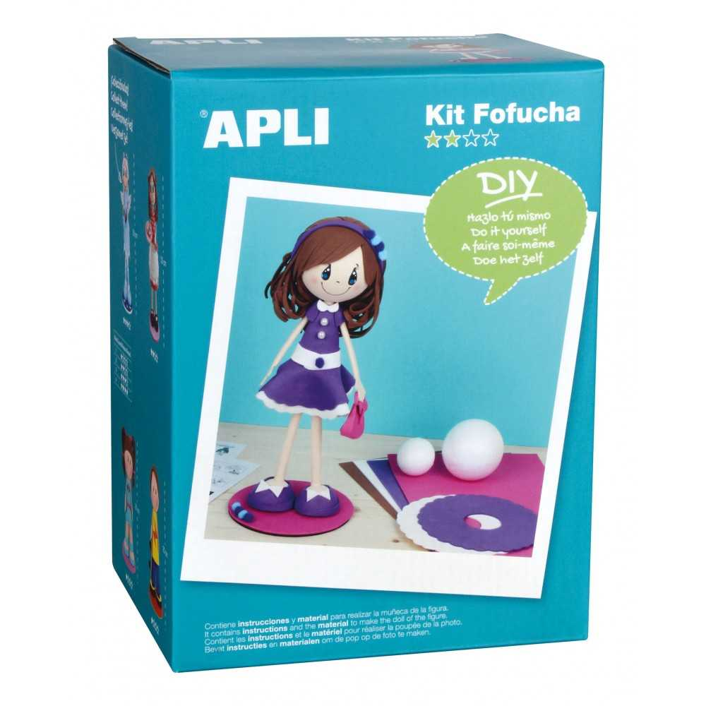 Kit Para Hacer una Muñeca Fofucha Modelo Alice Apli 13606
