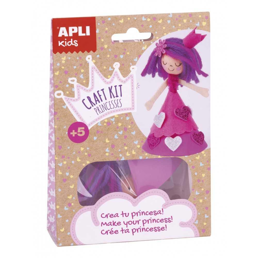 Craft Kit Crea tu Propia Princesa Rosa Apli 17146