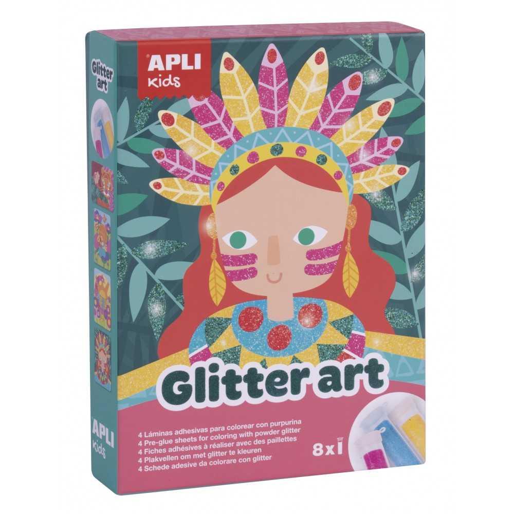 Juego Pintar Glitter Art Con Purpurina Apli 17561