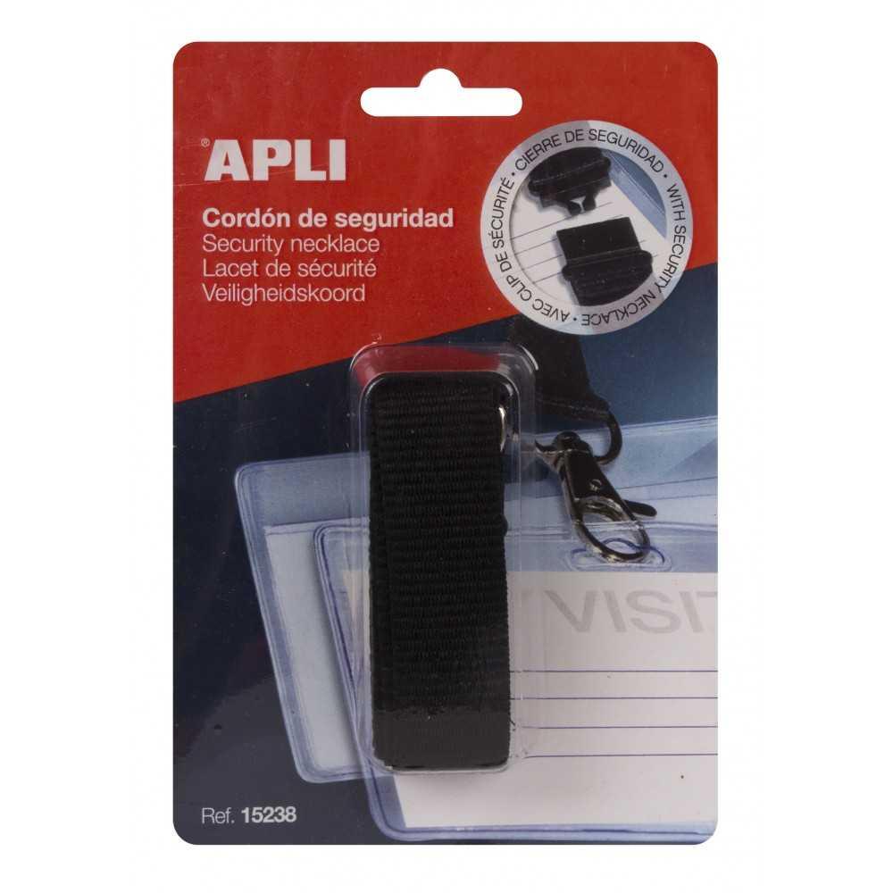 1 Cordón de seguridad negro para identificadores Apli 15238
