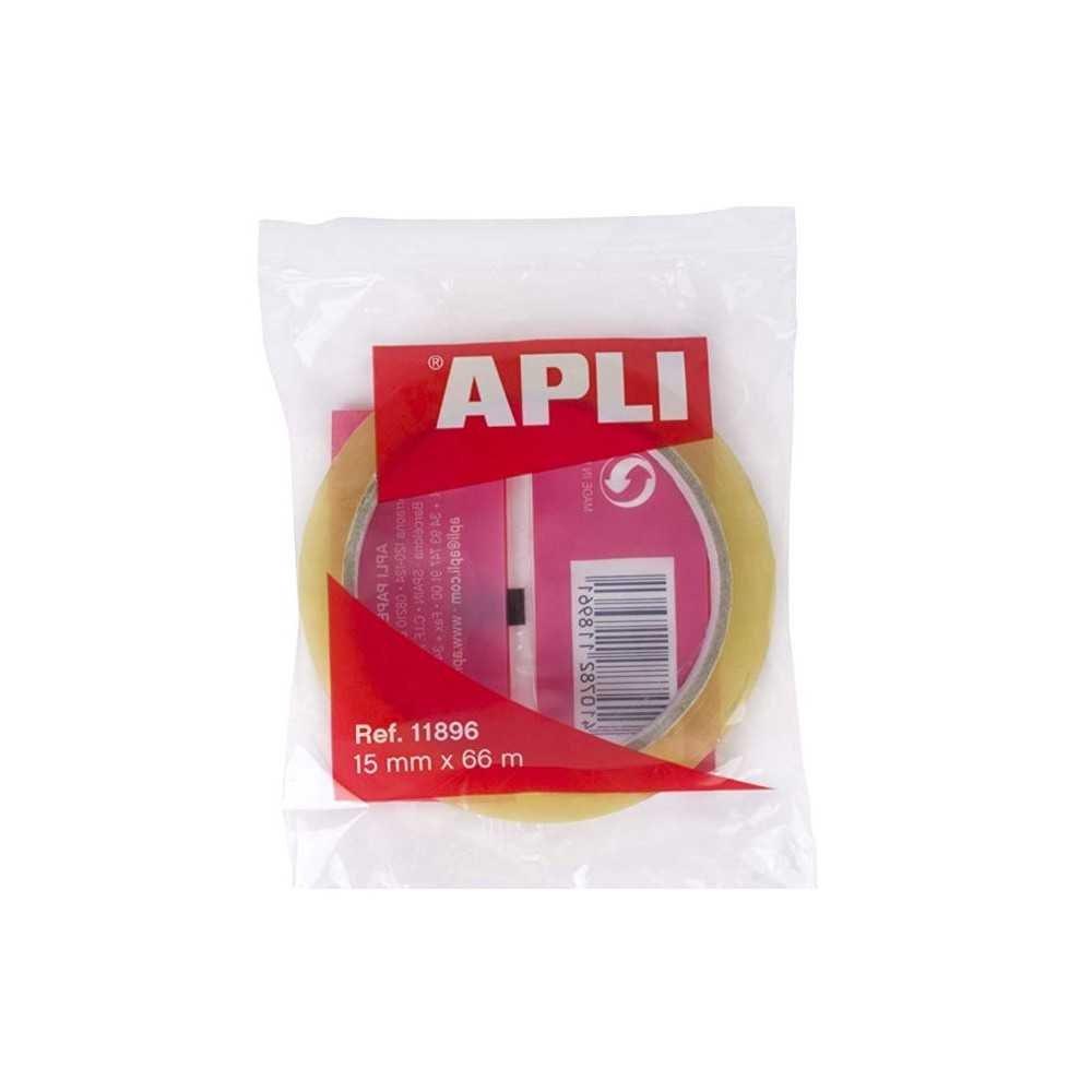 Cinta Adhesiva Transparente 15mm x 66m Apli 11896-1